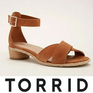 Torrid | Criss Cross Mini Heel Sandals
